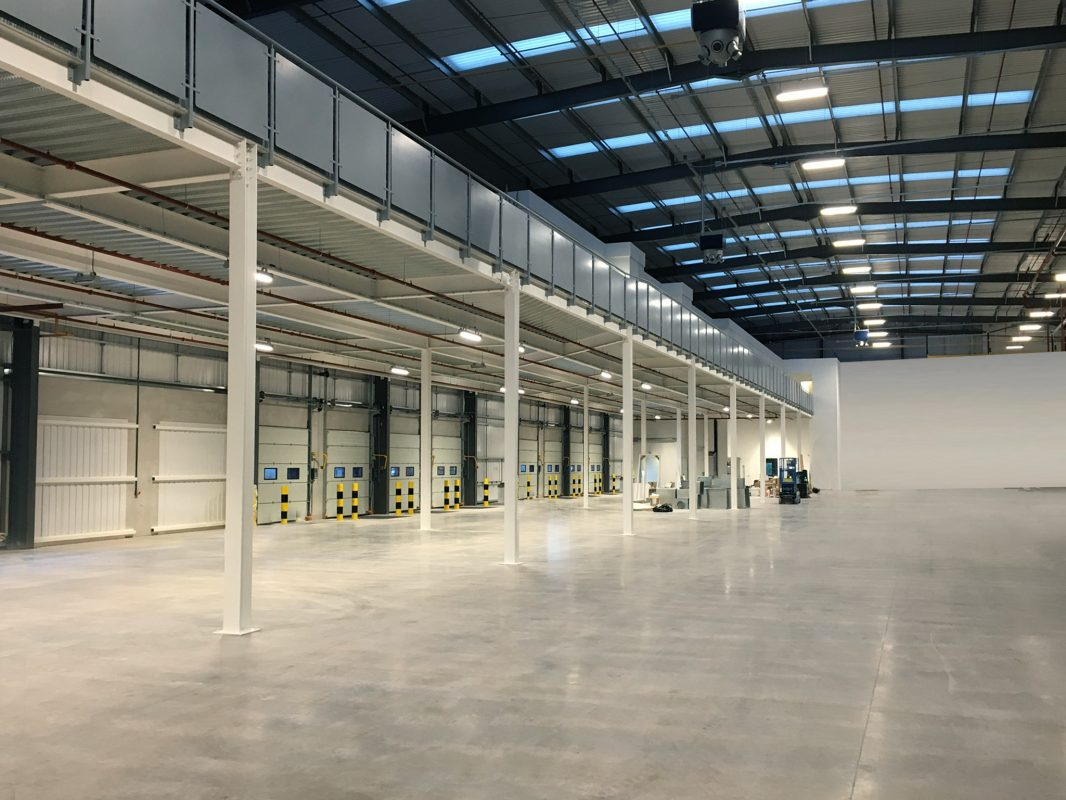 mezzanine floor in warehouse